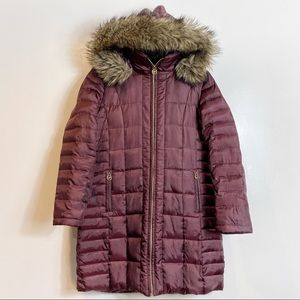 Micheal Kors Faux Fur Down Feather Puffer Coat